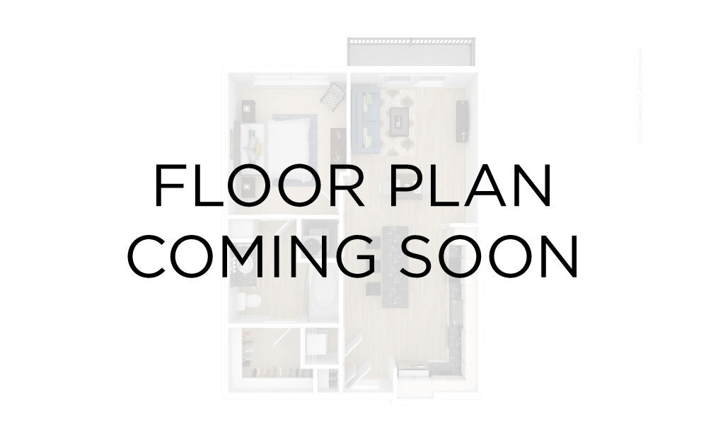 Kingston Waterfront B - 2 bedroom floorplan layout with 1 bath and 900 square feet.